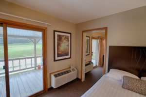 Hotel Room overlooking the golf course at Byrncliff Golf Resort & Banquets