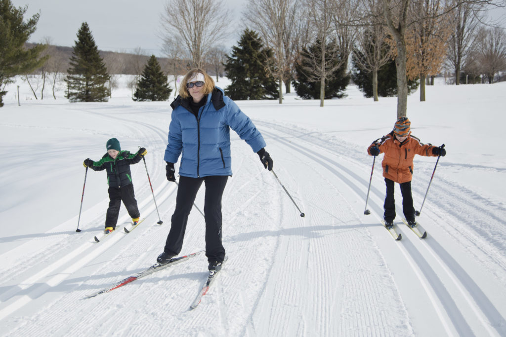 cross country skiing at byrncliff is fatnastic for both avid skiers as well as beginners