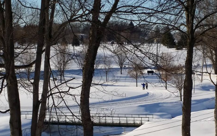 cross country skiing at Byrncliff Golf Resort