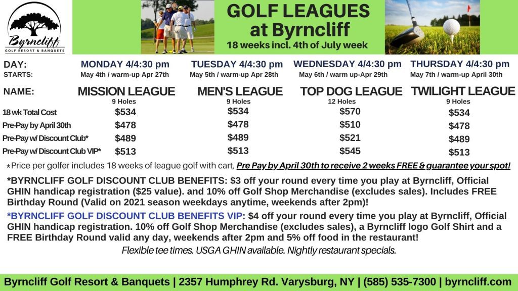 Byrncliff Golf Leagues