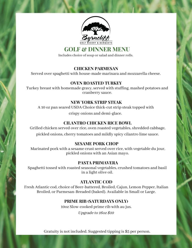 Golf and Dinner Special Byrncliff